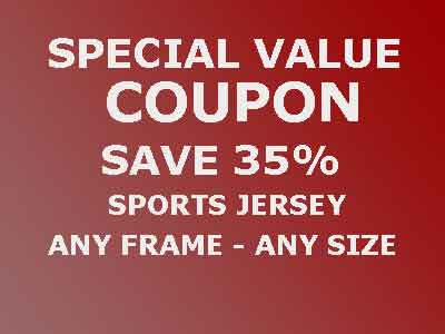 Save 35% On Custom Framed Sports Jerseys