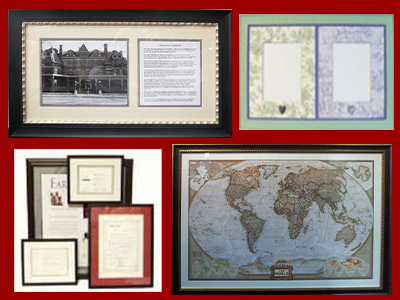 Custom Framing For Letters Documents And Maps