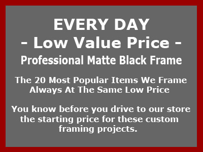 Professional value priced custom picture framing