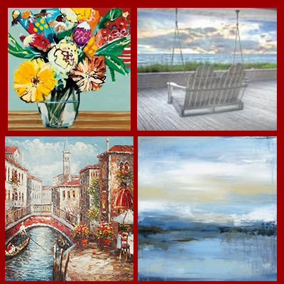 Shop our decorative oil on canvas paintings and print on demand art with ready made or custom picture frames