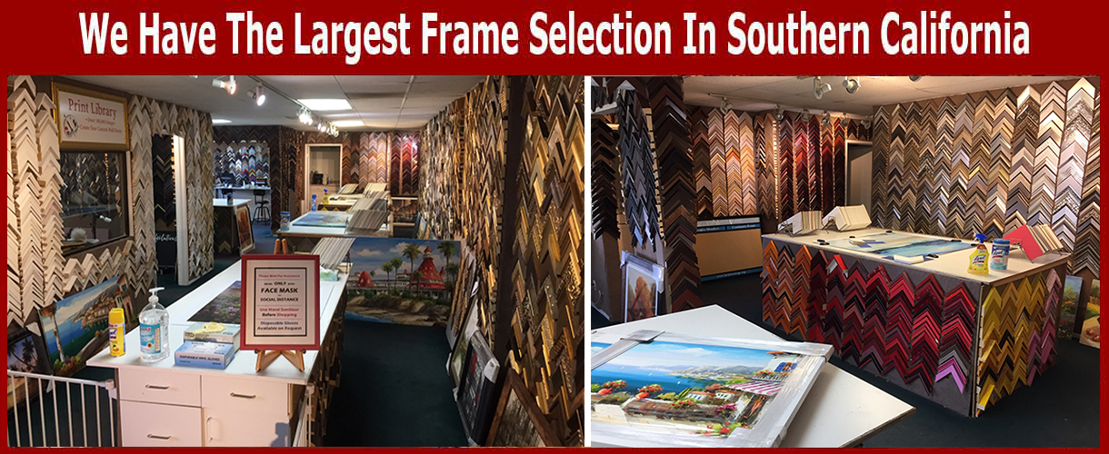Art Concepts Warehouse store has the largest selection of custom picture frames in Southern California.