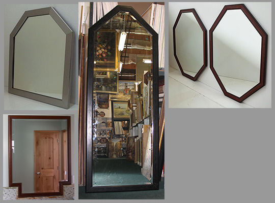 Octagon mirrors and Hexagon Mirrors Made With Any Frame And Made In Any Size