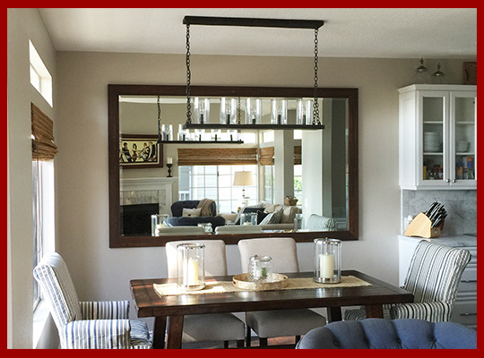 dining room mirrors made to your style